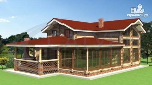 Фото 6: проект деревянный дом с зимним садом и террасой-барбекю