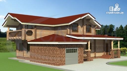 Фото 4: проект деревянный дом с зимним садом и террасой-барбекю