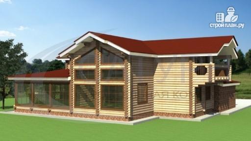 Фото 5: проект деревянный дом с зимним садом и террасой-барбекю