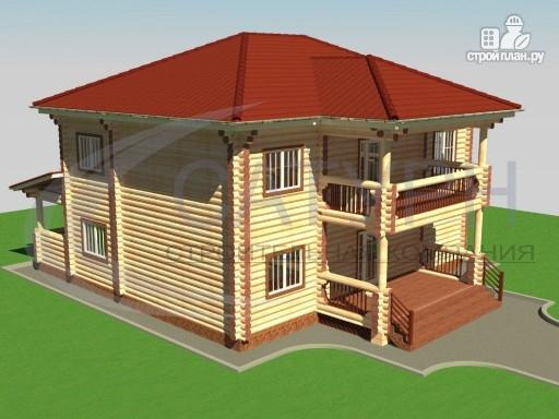 Фото 4: проект двухэтажный деревянный дом с балконом