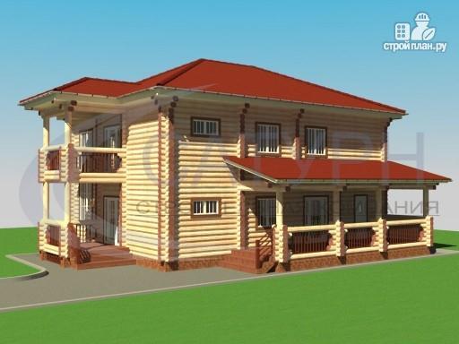 Фото 5: проект двухэтажный деревянный дом с балконом