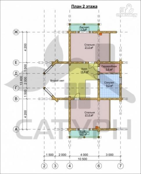 Фото 3: проект дом из дерева с двухсветной гостиной, сауной и террасой