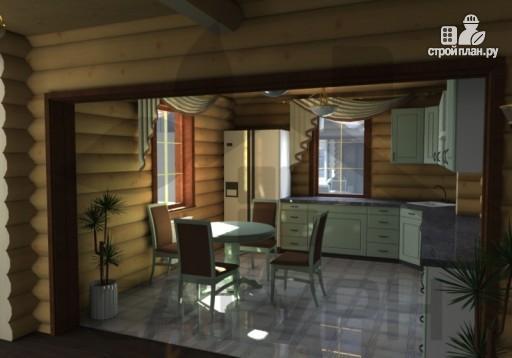 Фото 8: проект дом из дерева с двухсветной гостиной, сауной и террасой