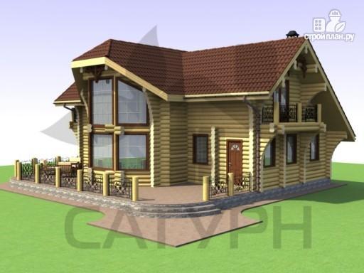 Фото 7: проект дом из дерева с двухсветной гостиной, сауной и террасой