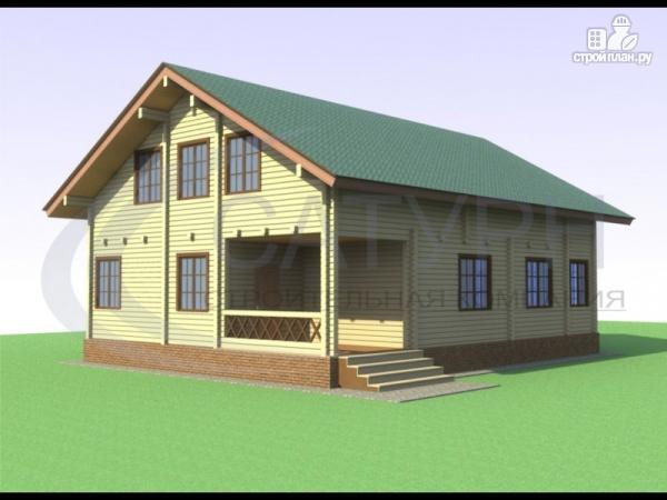 Фото: проект дом из дерева с террасой и верандой