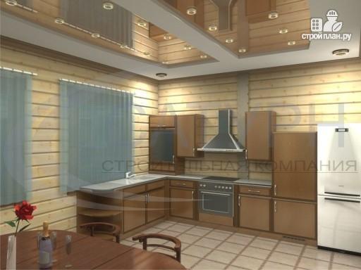 Фото 7: проект деревянный дом с гаражом, террасой и балконом