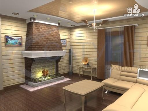 Фото 6: проект деревянный дом с гаражом, террасой и балконом