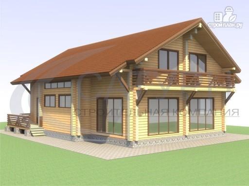 Фото 4: проект просторный деревянный дом с мансардой
