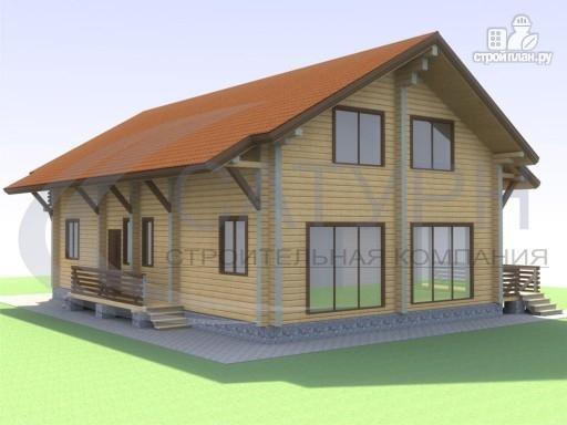 Фото 6: проект просторный деревянный дом с мансардой