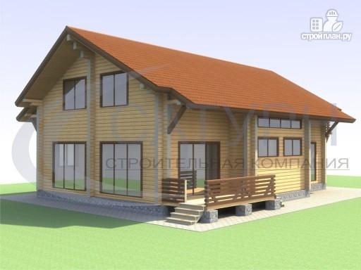 Фото 5: проект просторный деревянный дом с мансардой
