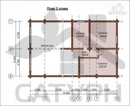 Фото 3: проект деревянный дом с угловой террасой и навесом для машин