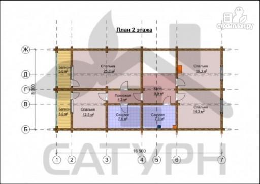 Фото 3: проект дом из дерева с камином, террасой и балконом
