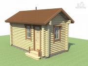Проект компактная баня из дерева для узкого участка