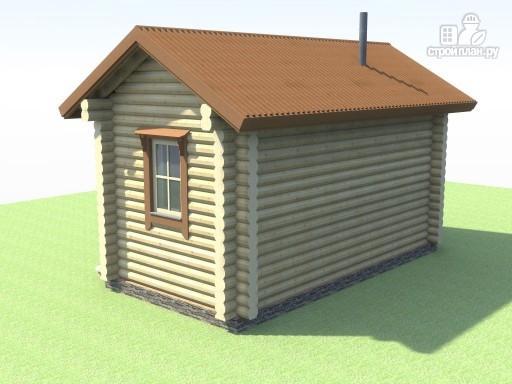 Фото 5: проект компактная баня из дерева для узкого участка