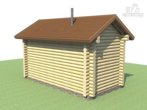 Фото 3: проект компактная баня из дерева для узкого участка