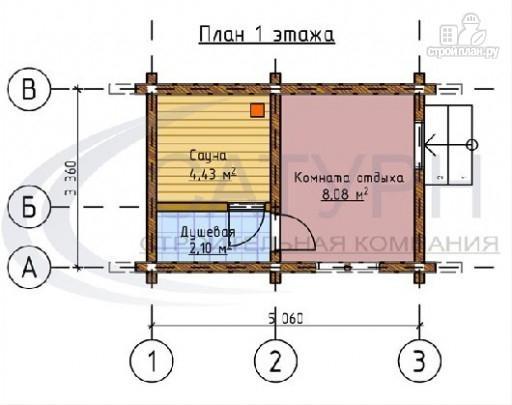 Фото 2: проект дачная баня из дерева