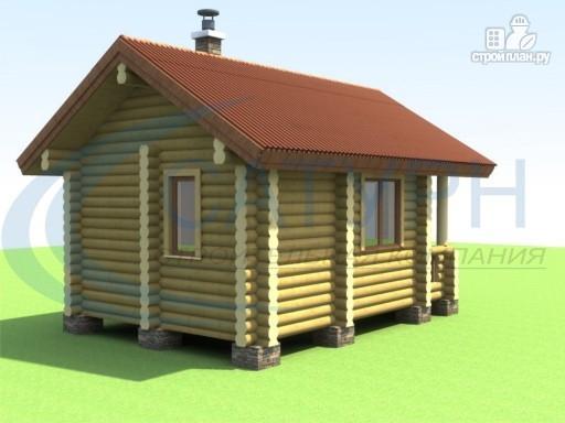 Фото 3: проект маленькая деревянная баня с крыльцом
