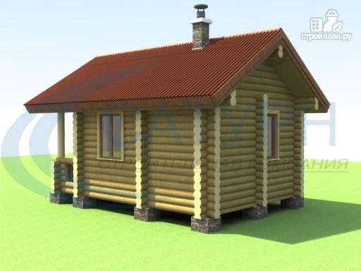 Фото 4: проект маленькая деревянная баня с крыльцом