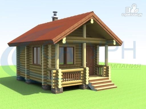 Фото 6: проект маленькая деревянная баня с крыльцом