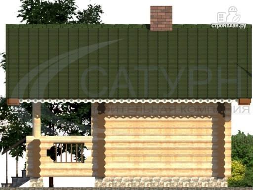 Фото 4: проект баня из дерева с крыльцом