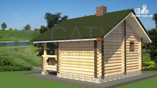 Фото 3: проект баня из дерева с крыльцом