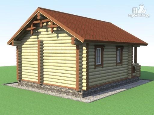 Фото 4: проект деревянная баня с террасой