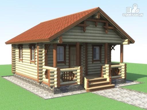 Фото 3: проект деревянная баня с террасой