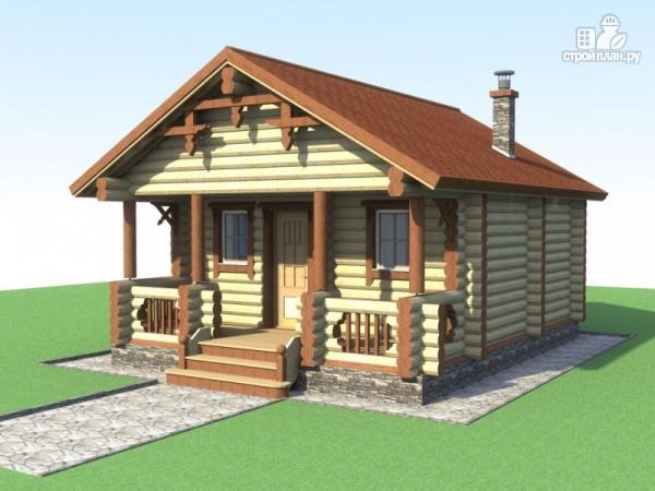 Фото: проект деревянная баня с террасой