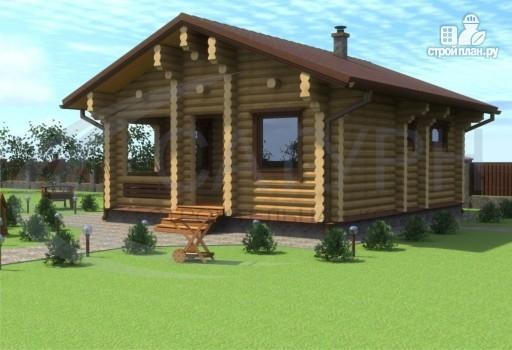 Фото 6: проект деревянная одноэтажная баня 7х8 с террасой
