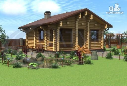 Фото 3: проект деревянная одноэтажная баня 7х8 с террасой