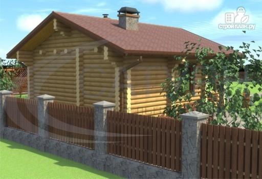 Фото 5: проект деревянная одноэтажная баня 7х8 с террасой