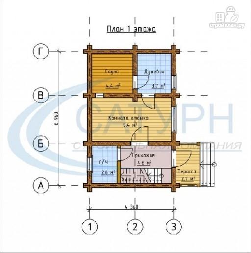 Фото 2: проект деревянная баня с мансардным этажом