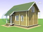 Проект деревянная баня с мансардным этажом