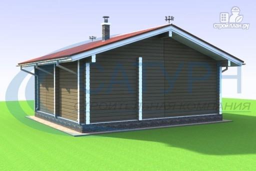Фото 5: проект одноэтажная 7х8 деревянная баня с террасой