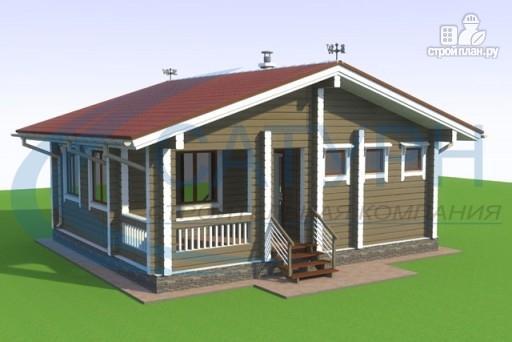 Фото 3: проект одноэтажная 7х8 деревянная баня с террасой