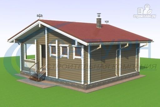 Фото 4: проект одноэтажная 7х8 деревянная баня с террасой