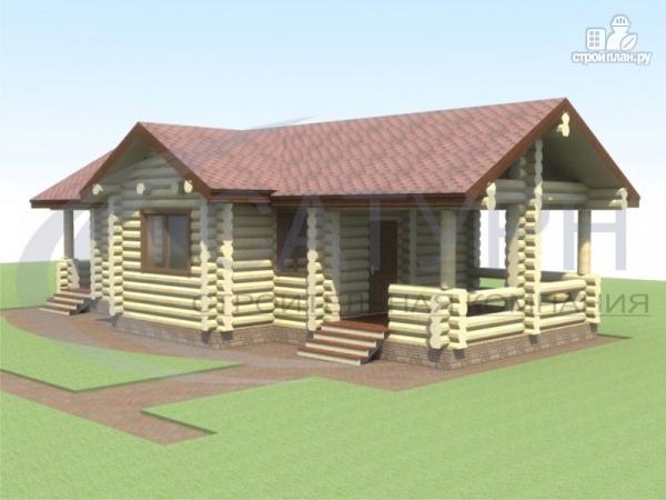 Фото: проект одноэтажная деревянная баня