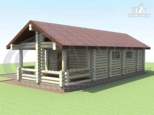 Фото 3: проект одноэтажная деревянная баня