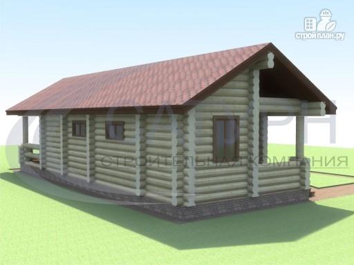 Фото 5: проект одноэтажная деревянная баня