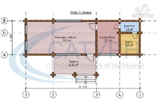 Фото 2: проект одноэтажная деревянная баня