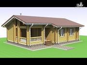 Проект одноэтажная деревянная баня с террасой