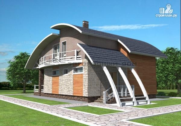 Фото 5: проект дом кирпичный с печью на террасе