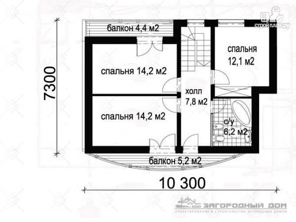 Фото 3: проект дом кирпичный с печью на террасе