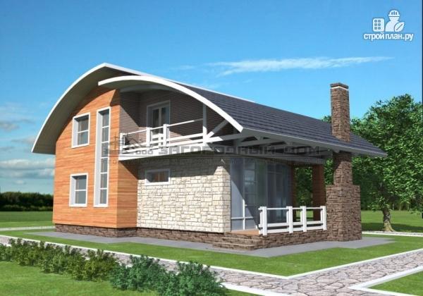 Фото: проект дом кирпичный с печью на террасе