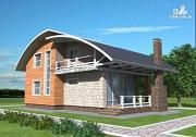 Проект дом кирпичный с печью на террасе
