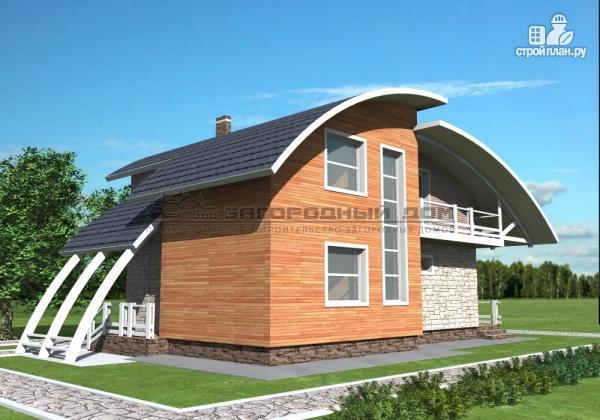 Фото 4: проект дом кирпичный с печью на террасе