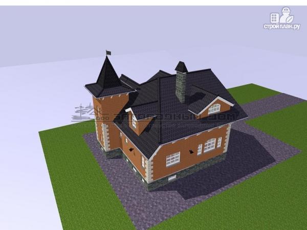 Фото 9: проект дом в старинном стиле из кирпича с балконом