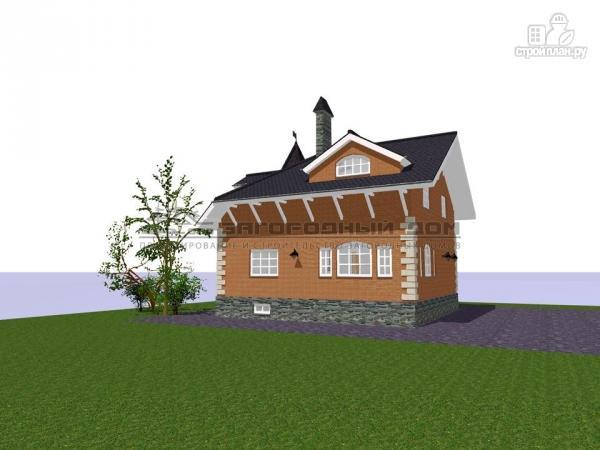 Фото 8: проект дом в старинном стиле из кирпича с балконом