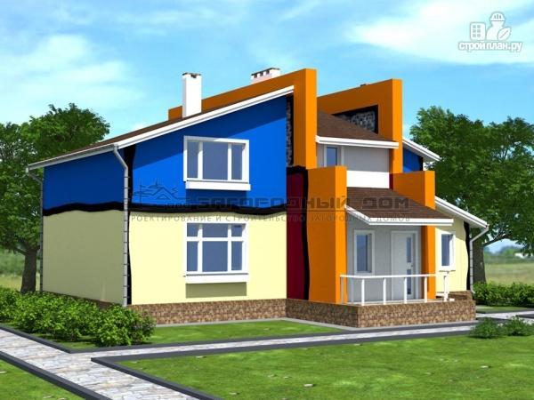 Фото 4: проект современный дом из кирпича с сауной