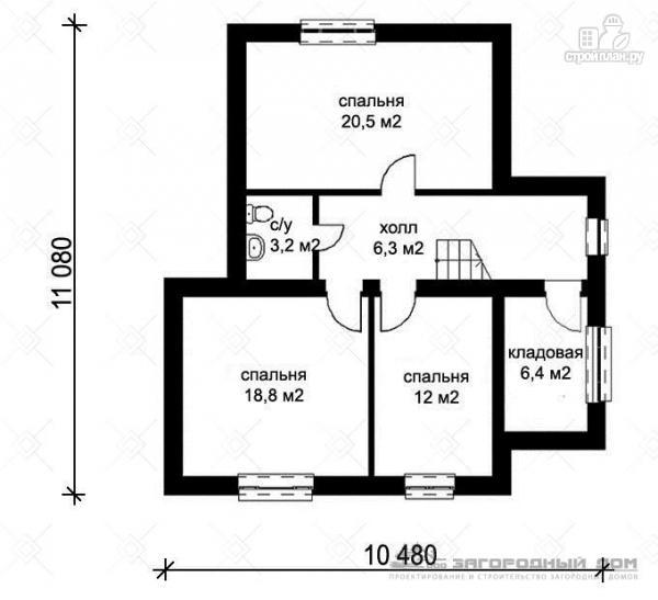 Фото 3: проект кирпичный дом с верандой и эркером в гостиной